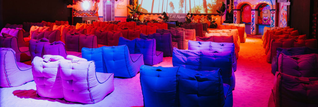 LA nights theme cinema interior