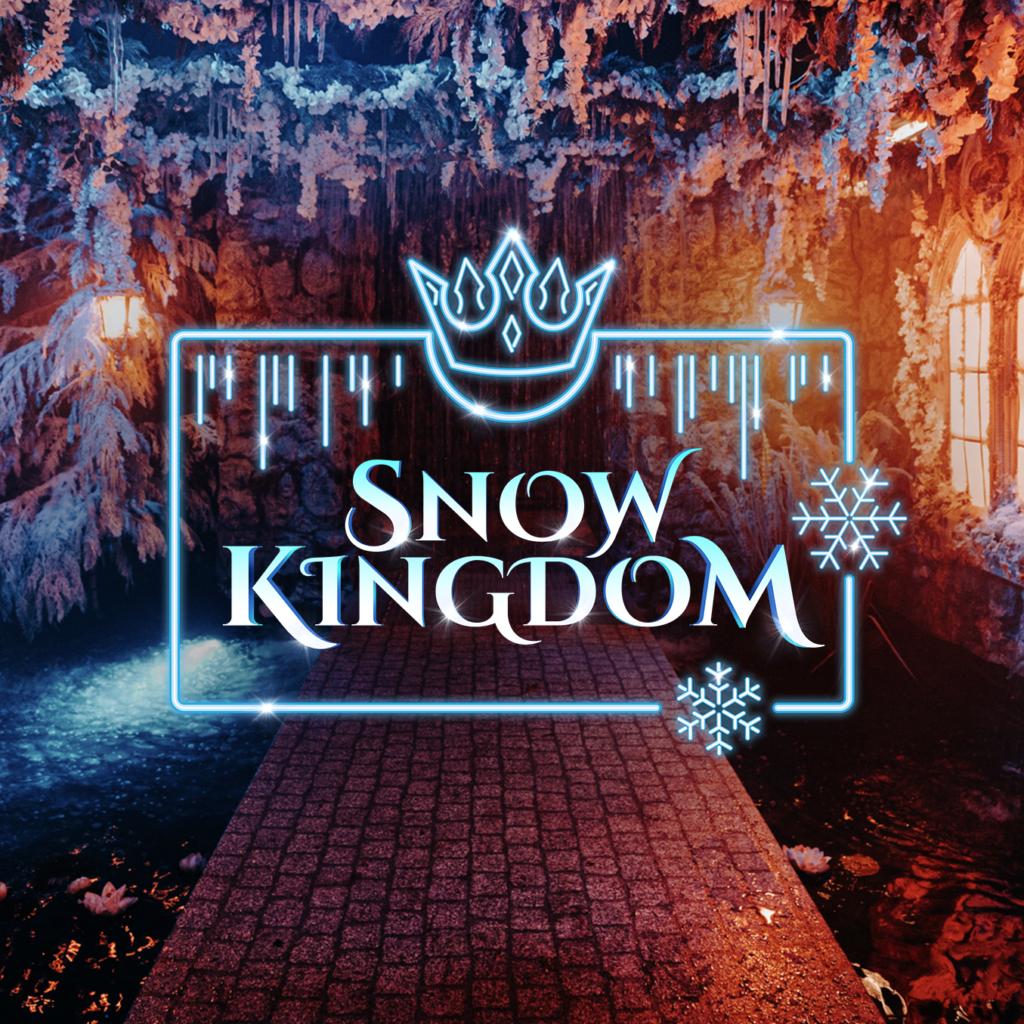 Snow Kingdom Waterfall image and logo