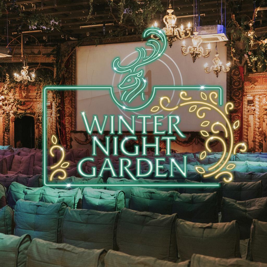 Winter Night Garden Cinema Image and logo